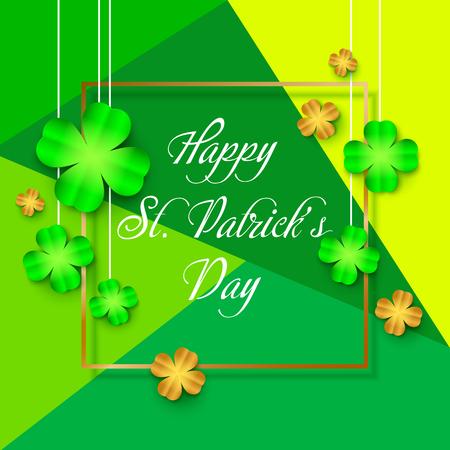 Patricks day background with clover leaf. Vector illustration Illustration