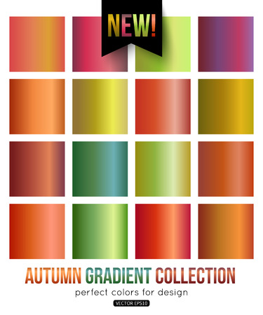 streak plate: Autumn gradient collection. Color palette. Blurred background, pattern, wallpaper, texture, vector illustration.