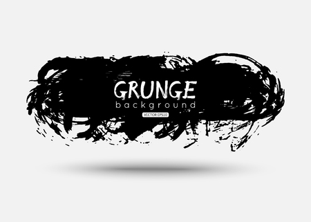 Vector grunge brush stroke shape. Black ink design Illustration