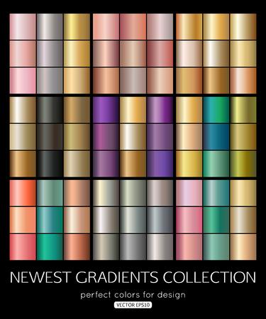 Mega collection de vecteur de texture dégradée. Design de fond de couleur douce.