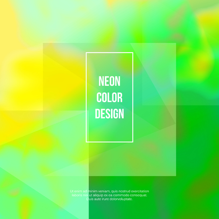 グリーンネオン抽象的背景  イラスト・ベクター素材