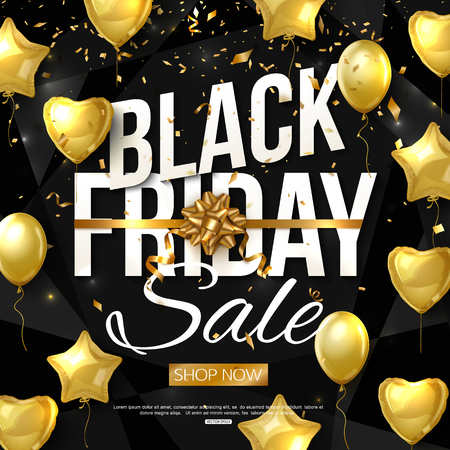 vector black friday sale banner layout design.