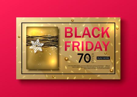 vector black friday sale banner layout design Illustration