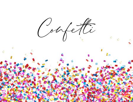 Celebration confetti background, vector illustration eps 10 Illustration