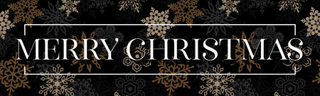 Christmas banner design decorated snowflakes. Vector illuatration eps 10 format
