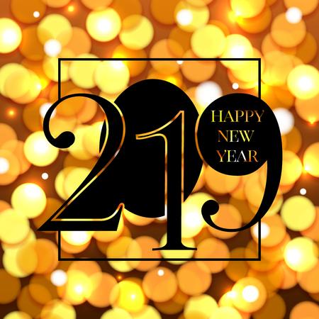 2019 Happy New Year Background. Vector illustration Illustration