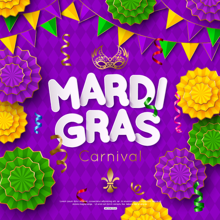 Mardi Gras Carnival background with mask. Shrove Tuesday