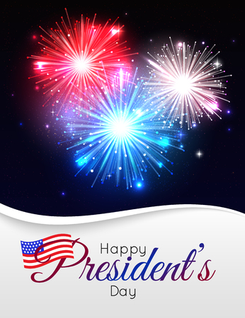 Happy Presidents day holiday design background Ilustração