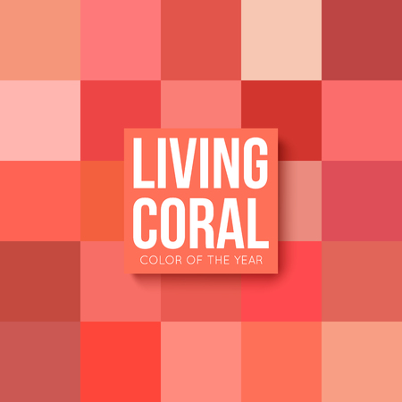 Living coral palette color of the year 2019 Illustration