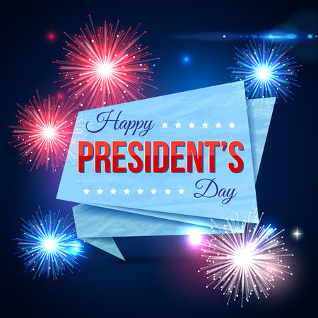 Happy Presidents day holiday design background Illustration