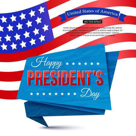 Happy President's day holiday design background Stock Vector - 123227828