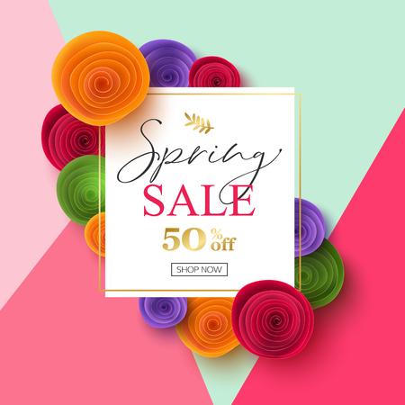 Spring Sale Banner design, vector illustration