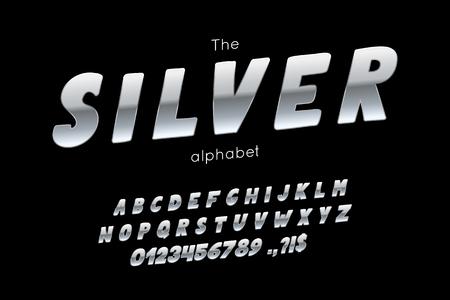 Vector font and alphabet. Ilustração