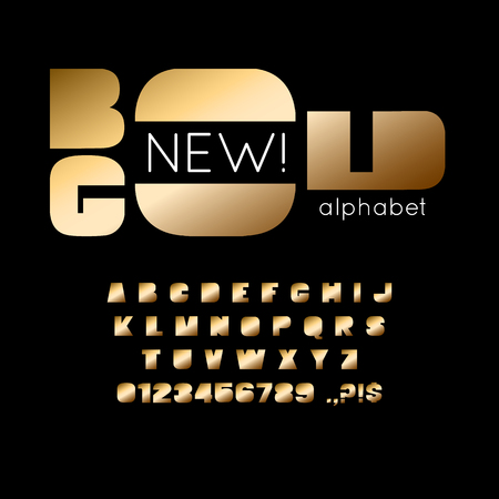 Vector bold font and alphabet. Illustration