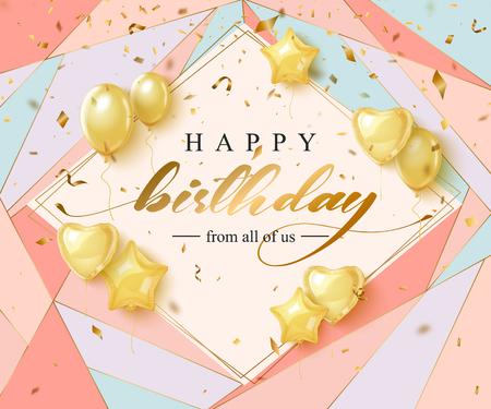 Diseño de tipografía de celebración de cumpleaños feliz para tarjeta de felicitación