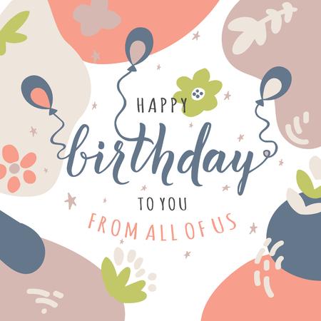Vector birthday card Illustration