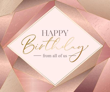 Vector happy birthday card template. Illustration