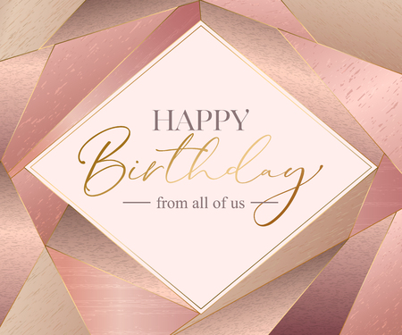 Vector happy birthday card template. Ilustração