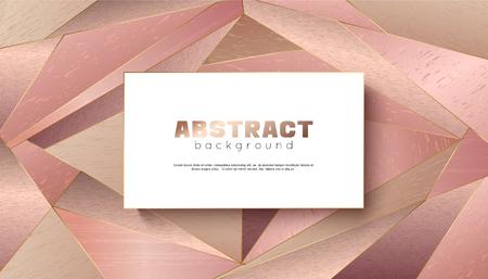 Abstract geometric  with golden color. Ilustração