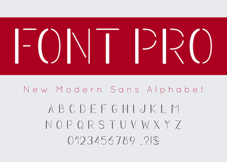 Vector geometric font and alphabet.
