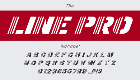 Vector line font and alphabet