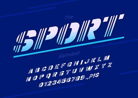 Vector sport font and alphabet Ilustração