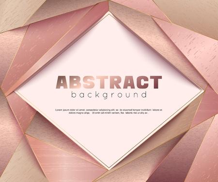 Abstract geometric  with golden color. Illustration