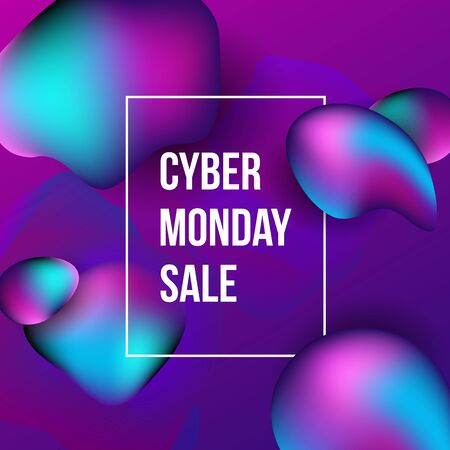 Cyber Monday sale poster design.
