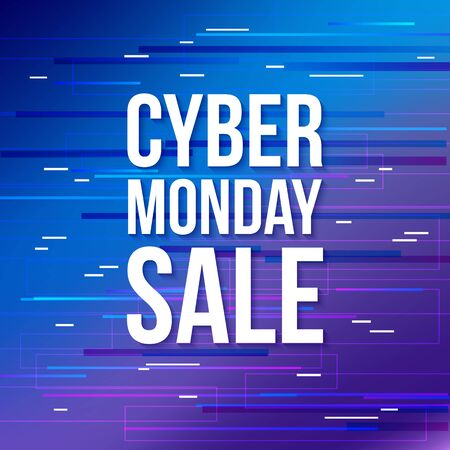 Cyber Monday discount sale banner.