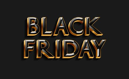 Black Friday text design for banner, poster