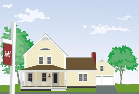 Huis met Verkocht Teken.