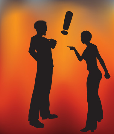 arguing: Vector illustration of a Man and Woman Arguing.