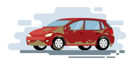 Vector concept for car washing service. Car wash service illustration.