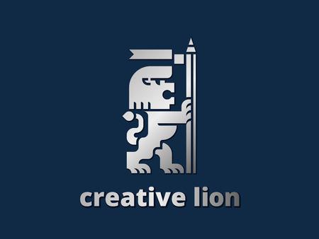 Creative Lion Logo Template Vectores