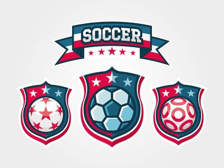 Set of Soccer Football Badge Logo Templates Logo