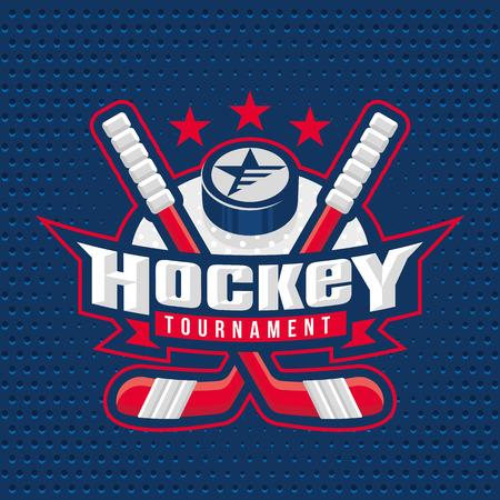hockey sobre hielo: Hockey sobre hielo insignia, logotipo, emblema de la plantilla Vectores