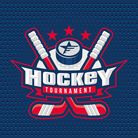 hockey goal: Ice Hockey badge, logo, emblem template
