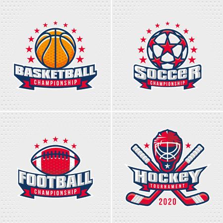 bannière football: Jeu de Sport Badge Logo Modèles de conception