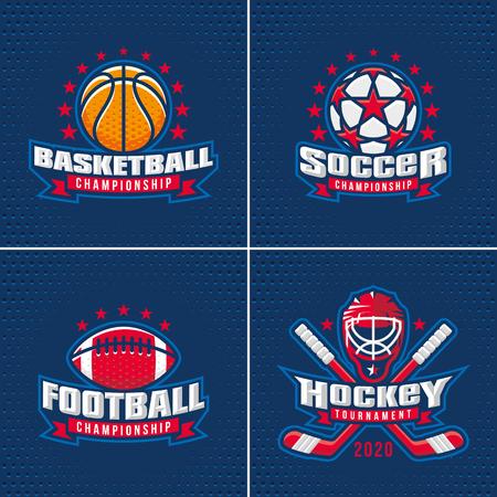 Set of Sport Badge Logo Design Templates Vectores