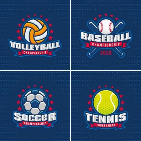 Set of Sport Badge Logo Design Templates Logo