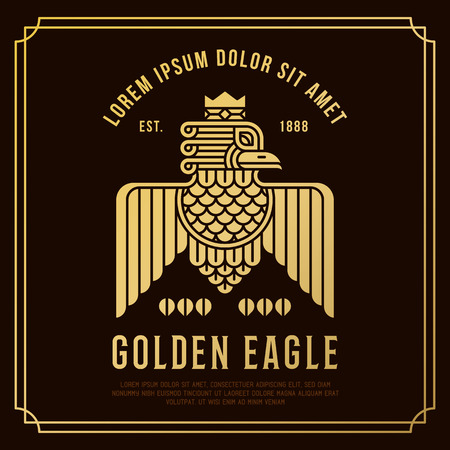 aigle royal: Aigle Dor Illustration