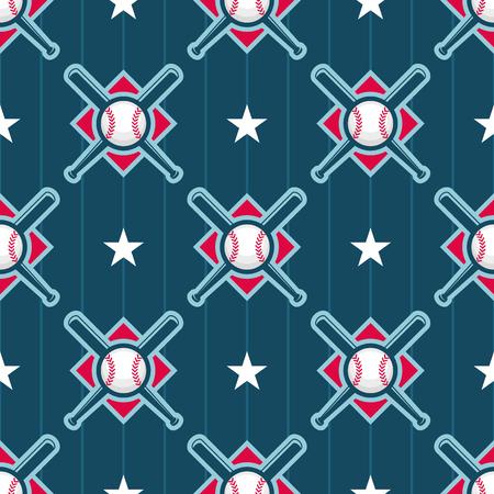 Patrón de vectores sin fisuras de béisbol Foto de archivo - 50400735
