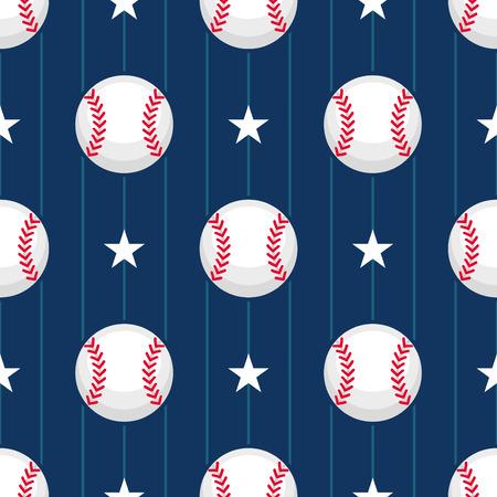 Baseball sport seamless pattern