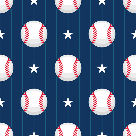Baseball sport seamless pattern