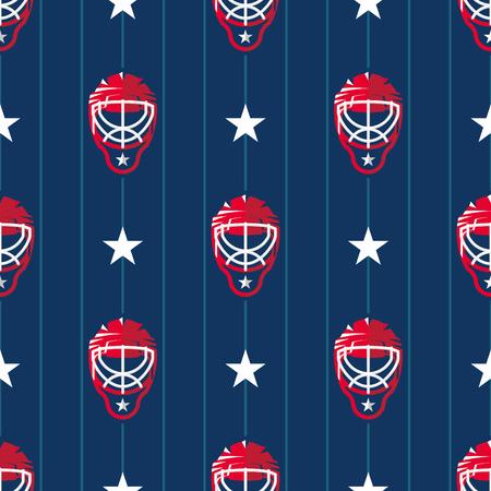 seamless: Hockey sport seamless pattern
