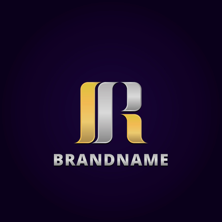 Abstract letter R logo design template, emblem template editable for your business. Logo