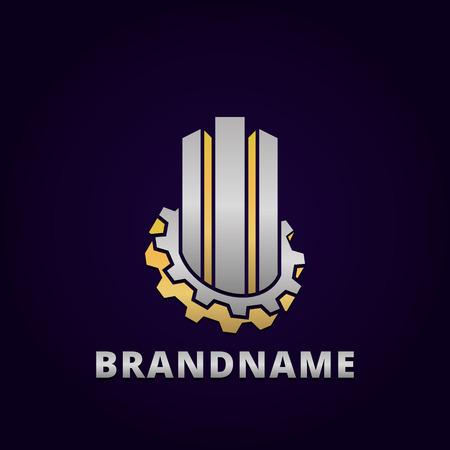 Plantilla de diseño de logotipo empresarial abstracto, plantilla de emblema editable para su negocio. Logos