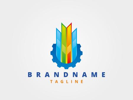 Plantilla de diseño de logotipo empresarial abstracto, plantilla de emblema editable para su diseño.