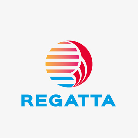regatta: Abstract regatta logo. Abstract business logo design template. Logo template editable for your business. Illustration