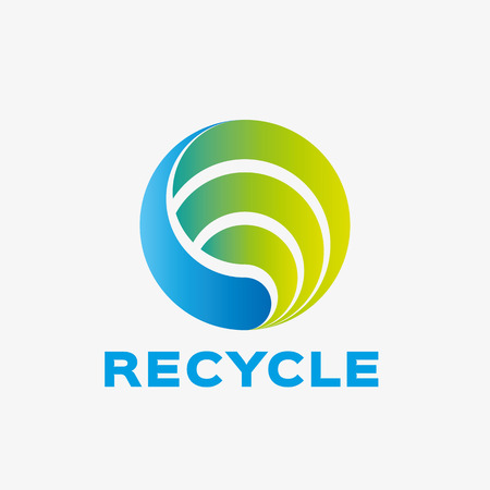 logo de reciclaje abstracta. Plantilla de diseño de logotipo de la empresa abstracta. logotipo de la plantilla editable para su negocio.